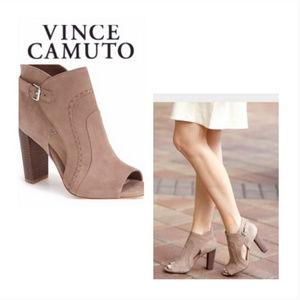Vince Camuto 'Conley Buckle' Open Toe Bootie
